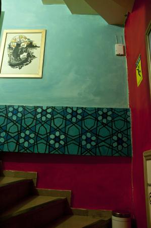 Stray Cat Hostel: Corridors with murals by the guests