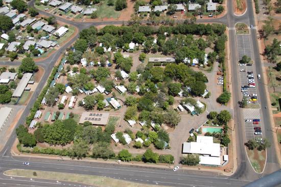 Mount Isa Caravan Park: Aerial view