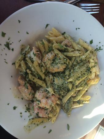 Chicken and Shrimp Pesto Ziti