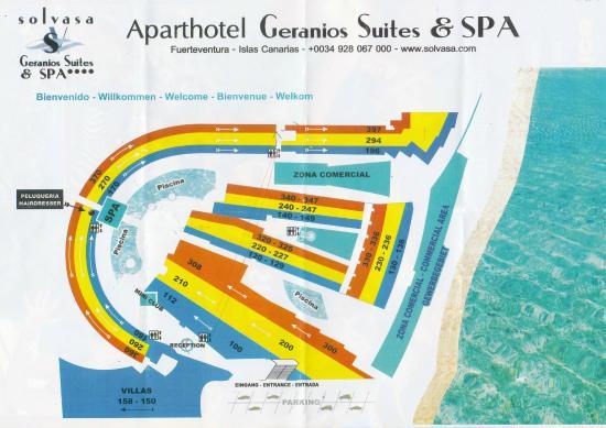 Geranios Suites & Spa: Hotel Plan