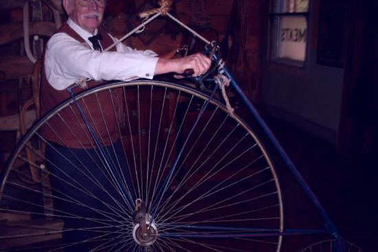 The Oldest Store Museum: Penny farthing bicycle demonstration