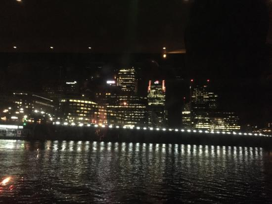 London Showboat: Canary Wharf at night, proving that money never sleeps