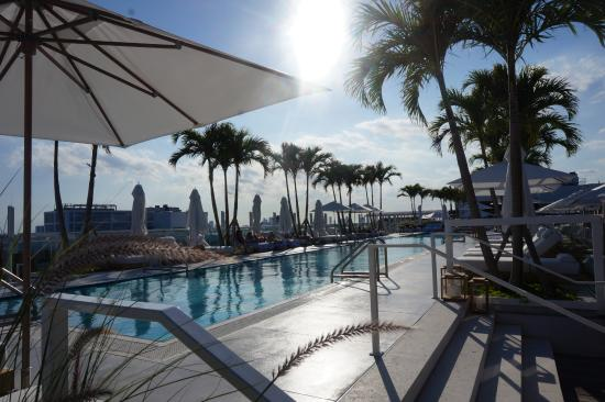 1 Hotel South Beach Roaching Sundown At The Rooftop Pool