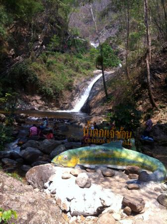 Chae Son National Park: Initial view of Chae Son waterfall