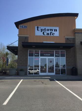 The Uptown Cafe: The front of the restaurant. The Uptown also has an outdoor patio.