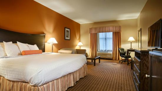 Best Western Plus Circle Inn: King Size Bed with Sofa Sleeper