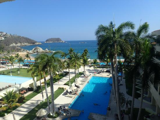 "Dreams Huatulco Resort & Spa: View from our preferred deluxe ""oceanfront"" room"