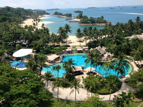 Pool From Our Room Picture Of Shangri La 39 S Rasa Sentosa Resort Spa Sentosa Island Tripadvisor