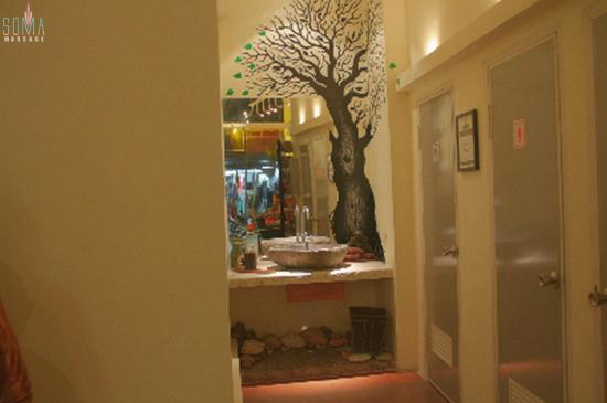 Soma Massage & Spa: Lavabo with tree