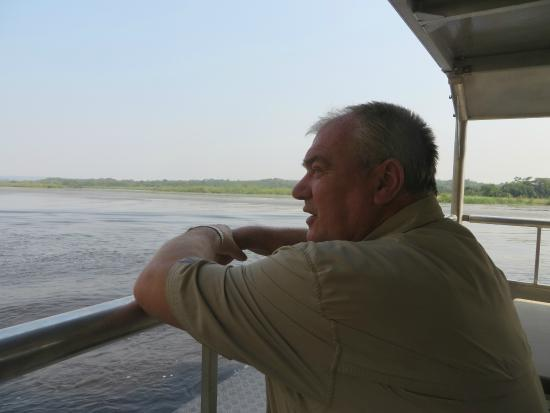 Masindi, Uganda: Boat cruise Murchison National Park