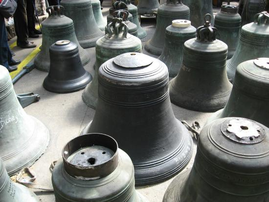 Whitechapel Bell Foundry: Bell cast in 1520 in for repair
