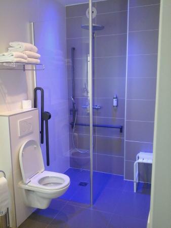 Best Western Hotel Carlton: Bathroom with folding support rails