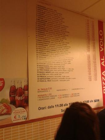 Pizza Al Volo : Выбор пицц