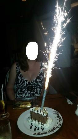 Giovanni's: The Anniversary Cake with Sparkler