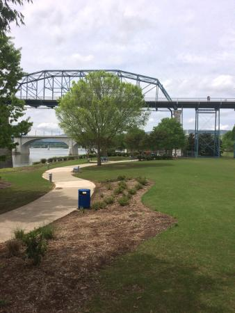Coolidge Park: Path and benches along the river, so relaxing.
