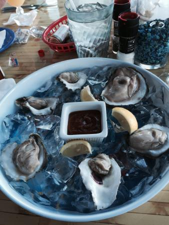 Rockport, TX: Raw oysters so delicious and fresh