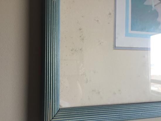 Canadas Best Value Inn - Saint John: Black mould in picture frame!