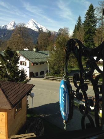 Treff Alpenhotel Kronprinz Berchtesgaden: Вид из окна ресторана
