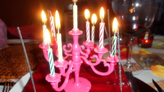 The Vagabond Candelabra On Birthday Cake
