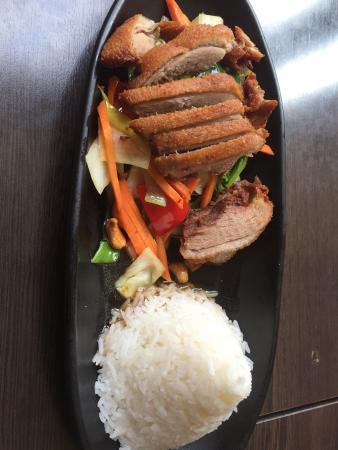 Leaf Thaikuche: Combinação do prato com Pato