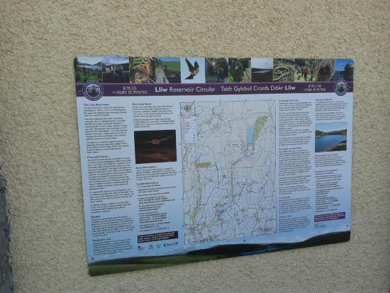 Lliw Reservoir: Lliw res info board