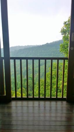 Munduk Sari Nature & Garden Villa: Vue depuis le lit