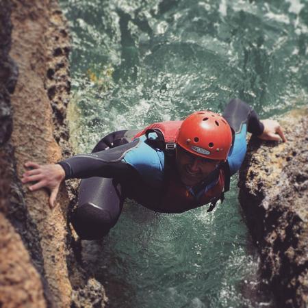Weymouth, UK: Coasteering antics