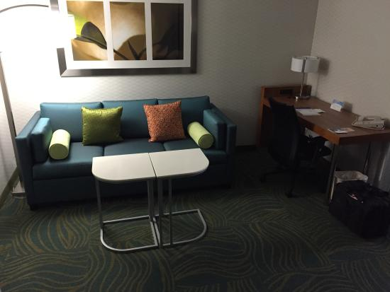 SpringHill Suites Chicago Elmhurst/Oakbrook Area: Living Room Area