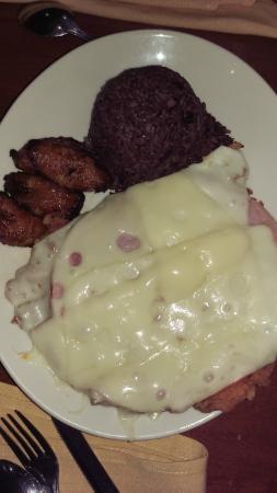 "Las Vegas Cuban Cuisine : Pollo Milanesa with 'moro"" style rice & beans"