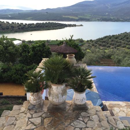 Casa Rural El Olivar: Zicht op meer vanop terras.