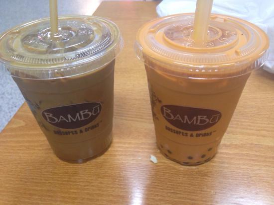 Pandan Desserts & Drinks - Washington DC Eden Center: Vietnamese coffee and bubba tea