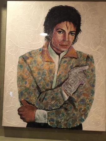 Ripley's Believe It or Not!: Michael Jackson portrait made by nail polish - I will post the description next