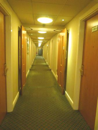 One of the shorter corridors at Eastwood Hall