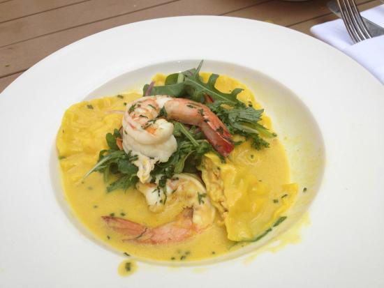 Hyde Park Barracks Cafe: Ravioli and Shrimp