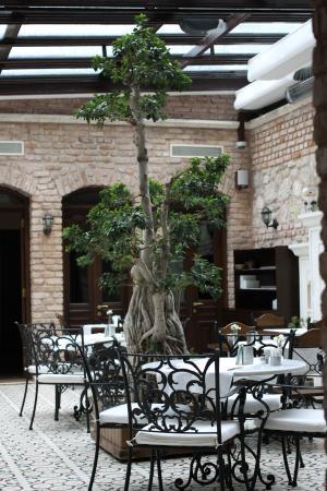 Celine Hotel: Breakfast in the atrium
