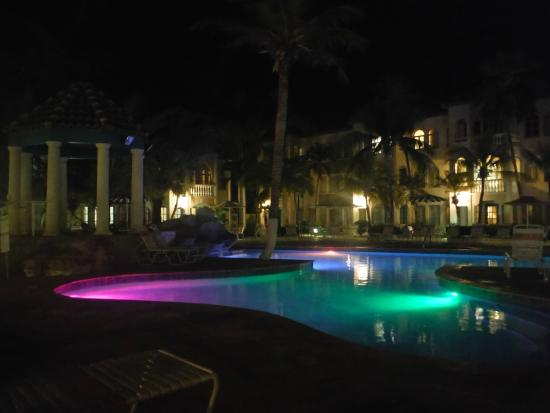 Caribbean Palm Village Resort: East Pool Night