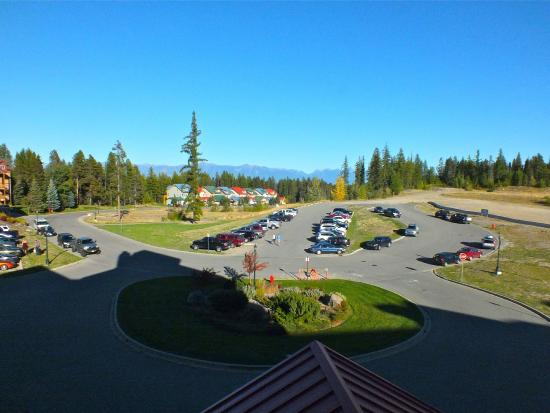 Daytime view from out studio suite Trickle Creek Lodge Kimberley BC
