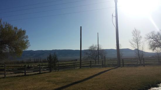 Almo Inn: View at breakfast