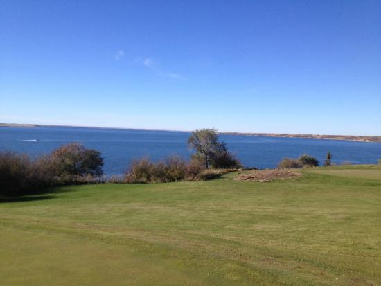 Elbow, Canada: View from 15th tee box.
