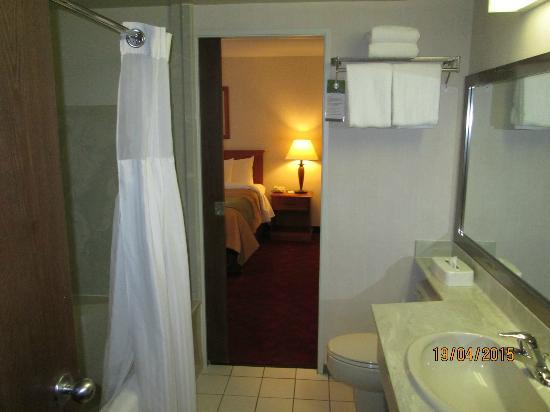 Comfort Inn & Suites : Pass Through Bathroom