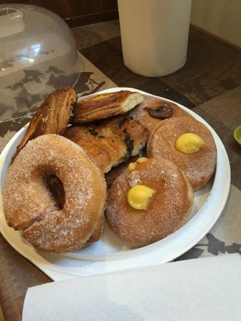 Freedom Traveller Hostel - breakfast pastries at the hostel