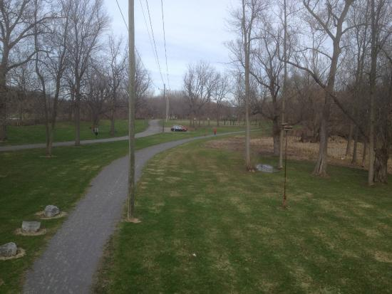 Erie Canal Aqueduct Park: Trail through park