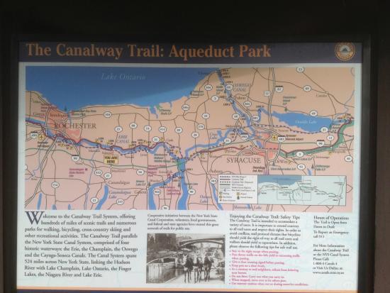 Erie Canal Aqueduct Park: Aqueduct Park trail map