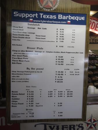 Tyler's Barbecue: reasonably priced