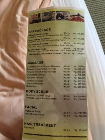 ‪‪Grand I Hotel‬: Hotel spa price .. Reasonable‬