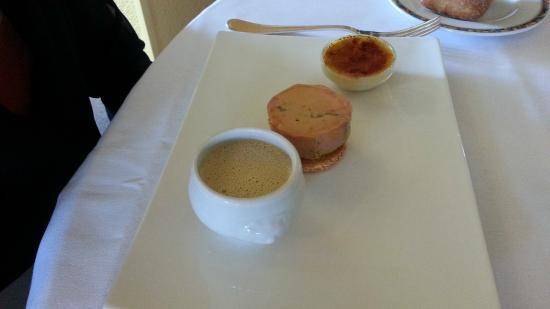 Restaurant Thierry Arbeau: trio de foie gras ... à tomber !