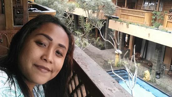Pesona Bamboe: room balcony with pool view