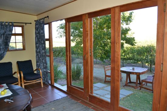Wederom B&B : On the enclosed veranda.