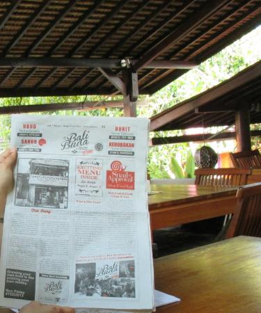 Bali Buda: Carte des menus