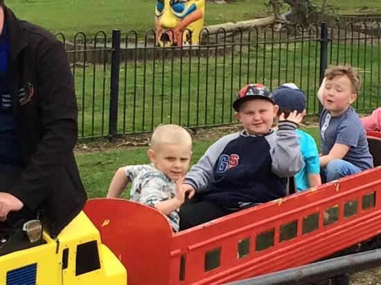 The Strand Leisure Park: Boys loving the train